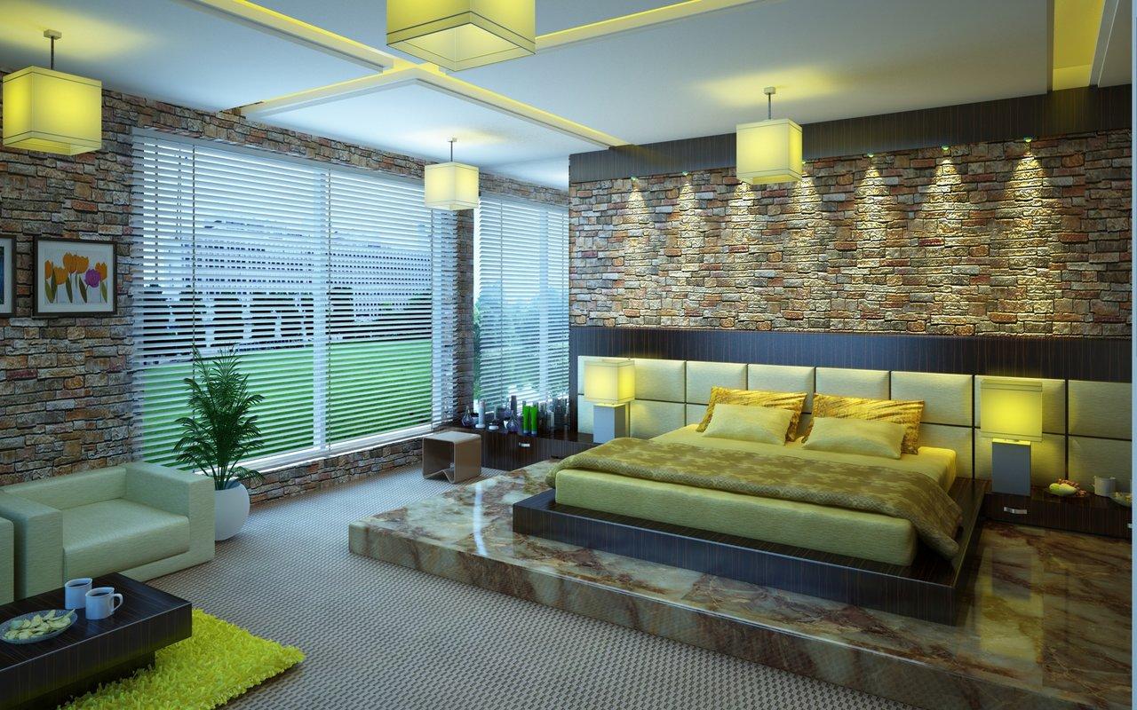Osvětlení ložnice v chytré domácnosti