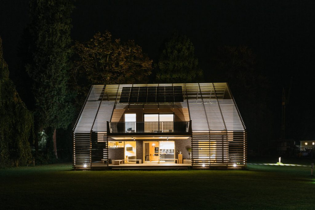 Chytře vytopený dům zboku