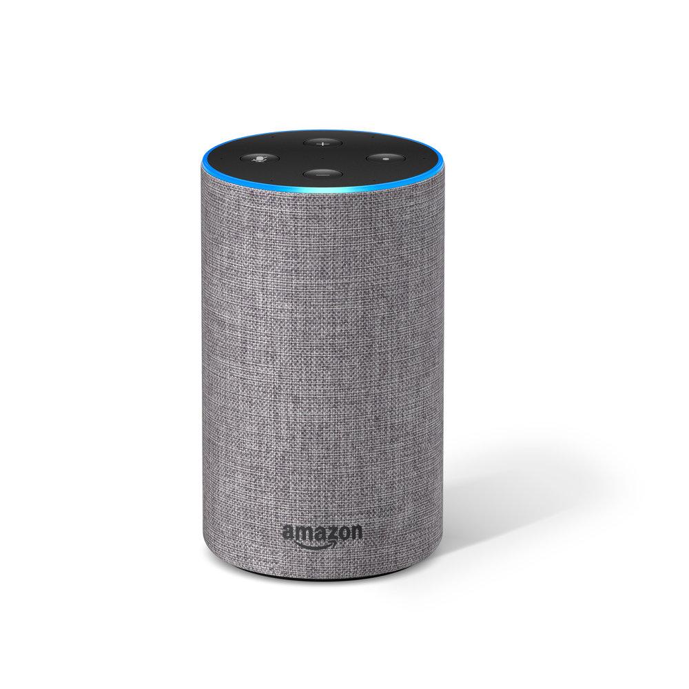 Šedý hlasový asistent Amazon Alexa